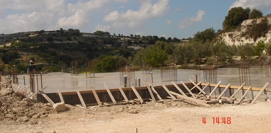 Pivate villa construction in Letymbou Paphos 2