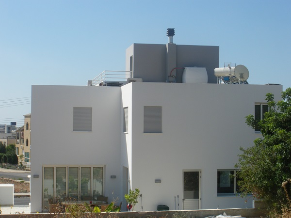 Building of two storey private residence in Paphos Cyprus