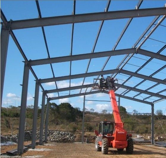 construction of steel structural framed structure