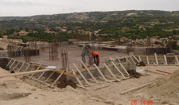 Pivate villa construction in Letymbou Paphos