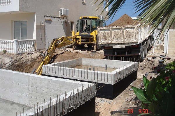 Swimming pool construction paphos Cyprus 05