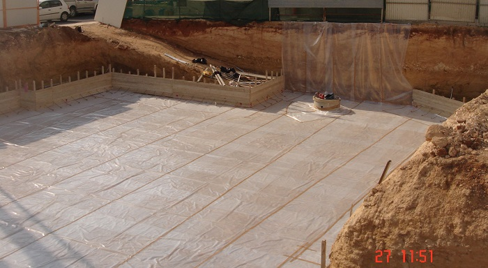 eniaio pedilo Kypros slab foundation construction Cyprus