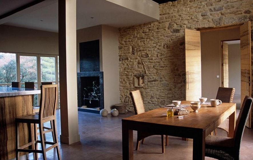 interior stone wall building
